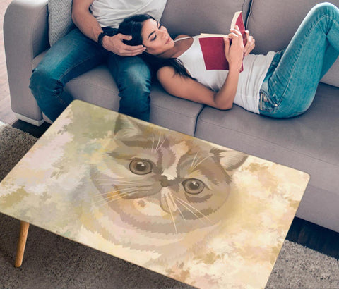 Exotic Shorthair Cat Print Rectangular Coffee Table