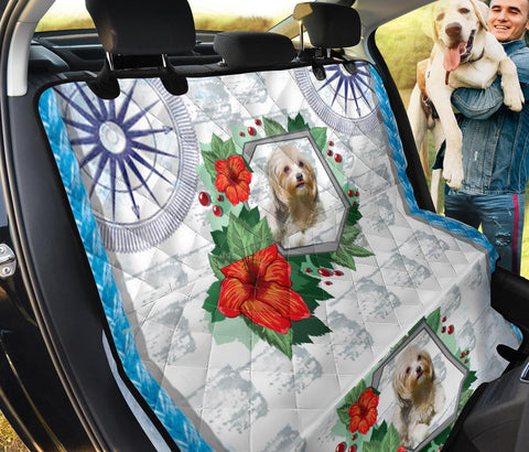 Havanese Dog Floral Print Pet Seat Covers