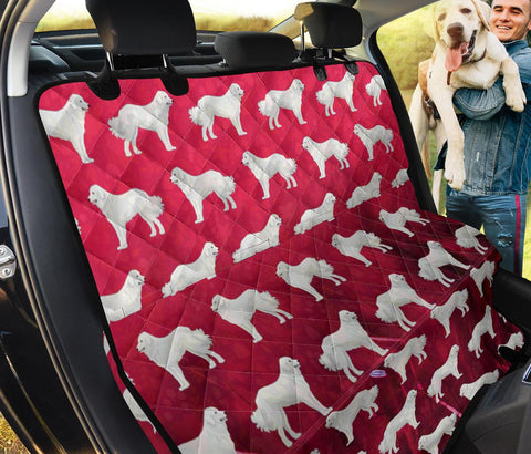 Great Pyrenees Dog Pattern Print Pet Seat Covers