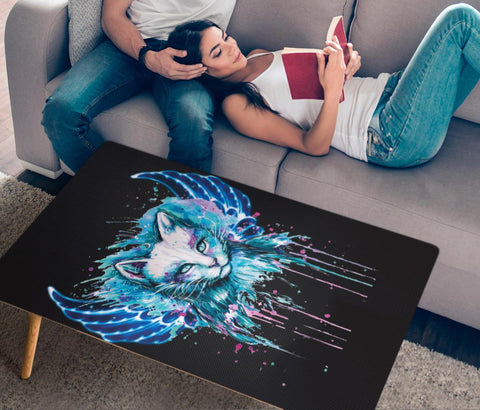 Cat Painting Print Rectangular Coffee Table