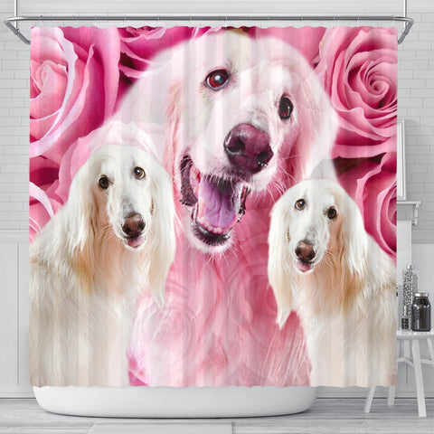 Afghan Hound Print Shower Curtains