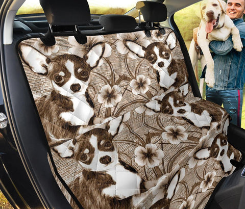 Chihuahua floral Print Pet Seat Covers