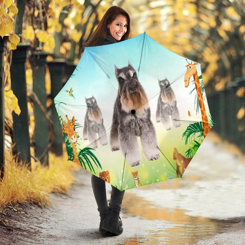 Cute Standard Schnauzer Dog Print Umbrellas