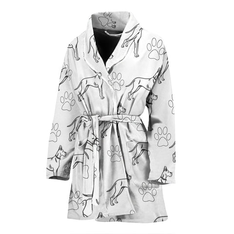 Great Dane Dog Print Women's Bath Robe