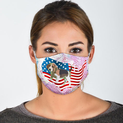 Beagle Dog US Print Face Mask