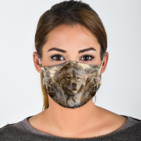 Lovely Chow Chow Print Face Mask