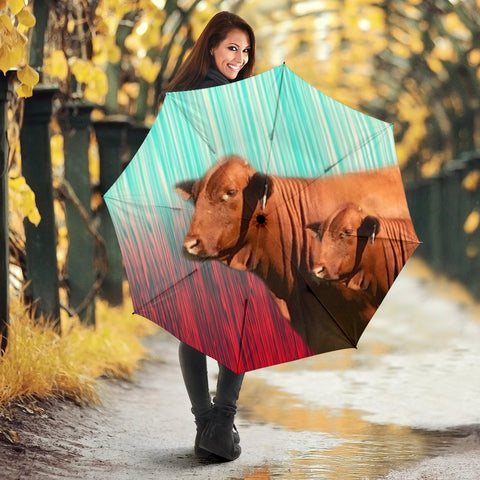 Breefmaster Cattle(Cow) Print Umbrellas