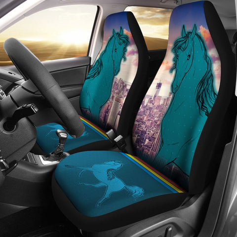 Anglo Arabian Horse Print Car Seat Covers