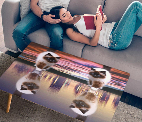 Himalayan Cat Print Rectangular Coffee Table