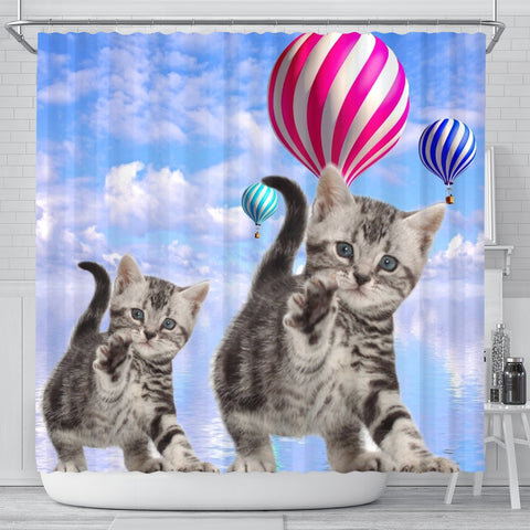 American Shorthair Cat Print Shower Curtains