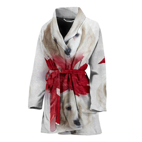 Dachshund On White Print Women's Bath Robe