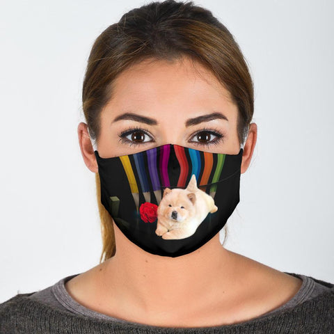 Chow Chow Dog With Rose Print Face Mask