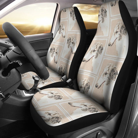 Borzoi Dog Patterns Print Car Seat Covers