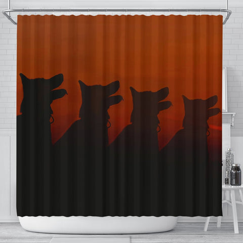 Amazing German Shepherd Dog Shadow Art Print Shower Curtains