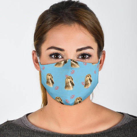 Afghan Hound Floral Patterns Print Face Mask