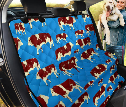 Fleckvieh Cattle(Cow) Patterns Print Pet Seat Covers