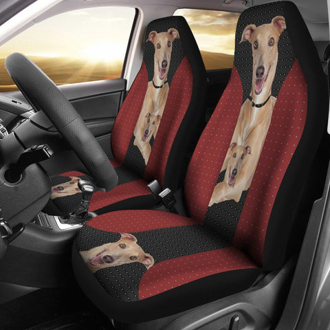 Italian Greyhound Red Black Print Car Seat Covers
