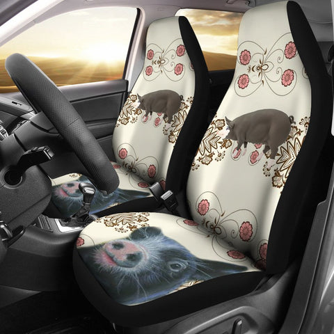 Cute Berkshire Pig Print Car Seat Covers