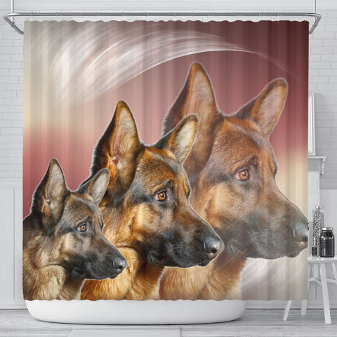 Amazing German Shepherd Print Shower Curtains