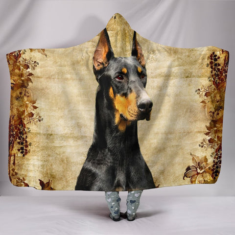 Amazing Dobermann Print Hooded Blanket