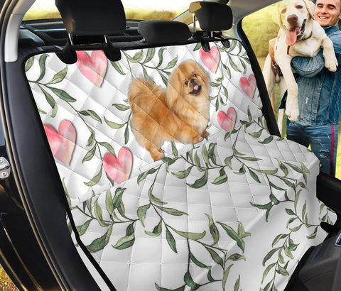 Cute Pekingese Print Pet Seat Covers