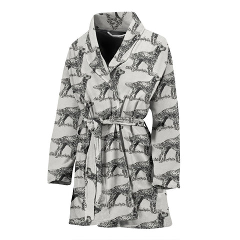 English Setter Dog Pattern Print Women's Bath Robe