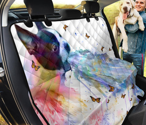 Boston Terrier Rainbow Print Pet Seat Covers