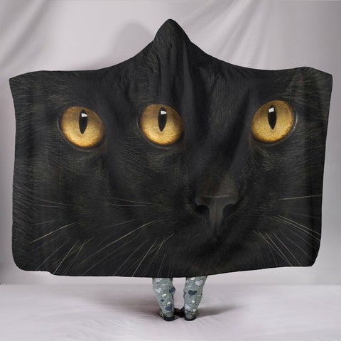 Bombay Cat Print Hooded Blanket