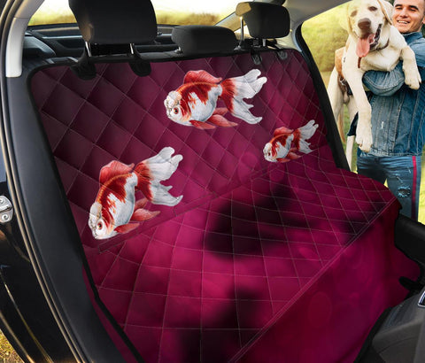 Oranda Fish On Pink Print Pet Seat Covers