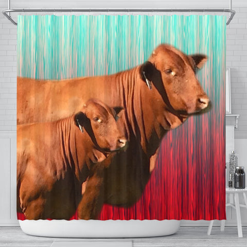 Beefmaster Cattle (Cow) Print Shower Curtain