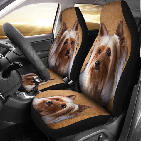Cute Australian Silky Terrier Print Car Seat Covers