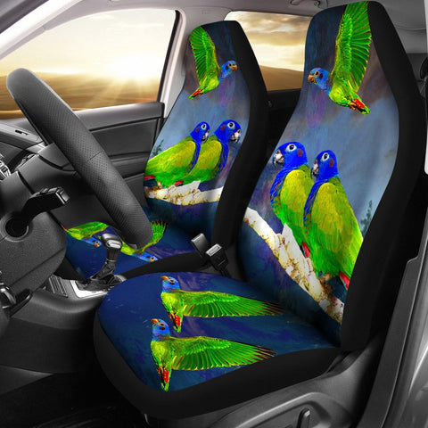 BlueHeaded Parrot (BlueHeaded Pionus) Print Car Seat Covers