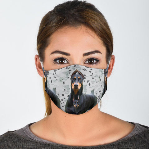 Amazing Doberman Pinscher Print Face Mask