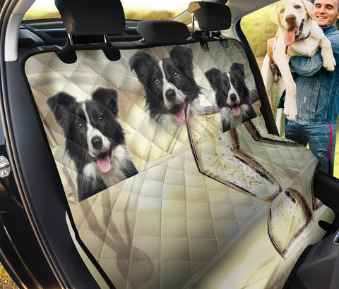 Lovely Border Collie Print Pet Seat Covers