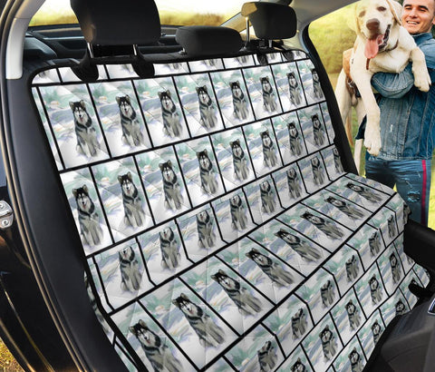 Alaskan Malamute Pattern Print Pet Seat Covers