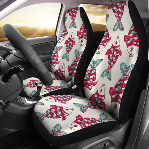 Fish Patterns Print Car Seat Covers