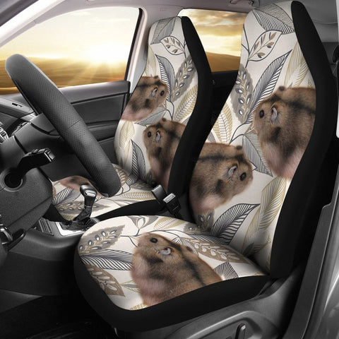 Campbell's Dwarf Hamster Print Car Seat Covers