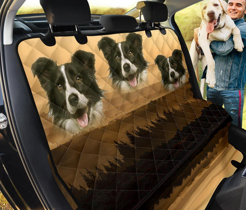 Border Collie Print Pet Seat Covers