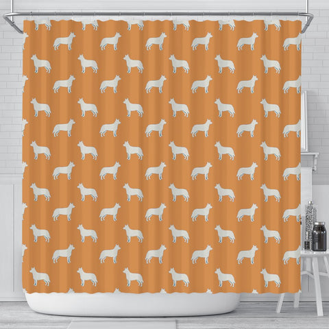 Australian Cattle Dog Pattern Print Shower Curtains