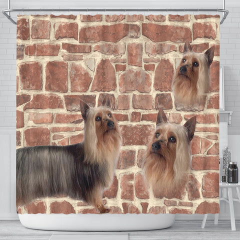 Australian Silky Terrier Print Shower Curtains
