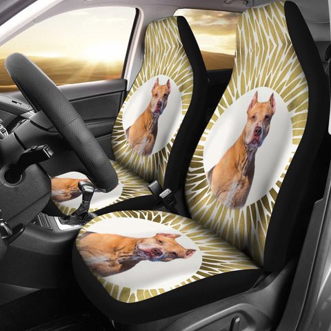 American Pit Bull Terrier Print Car Seat Covers