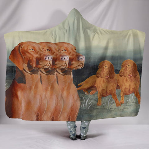 Amazing Vizsla Dog Print Hooded Blanket
