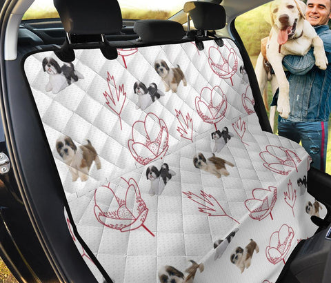 Shih Tzu Dog Print Pet Seat covers
