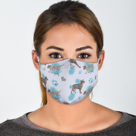 Australian Cattle Dog Patterns Print Face Mask