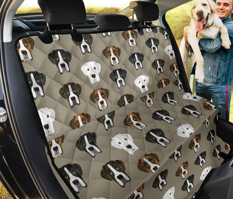 Boxer Dog Pattern Print Pet Seat Covers
