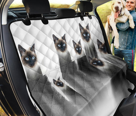 Siamese Cat Print Pet Seat Covers