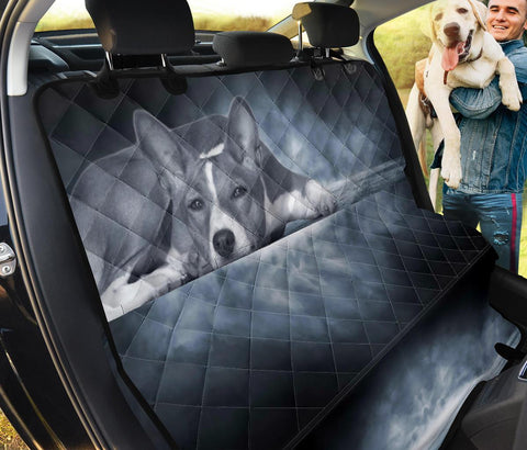 Basenji Dog On Black Print Pet Seat Covers