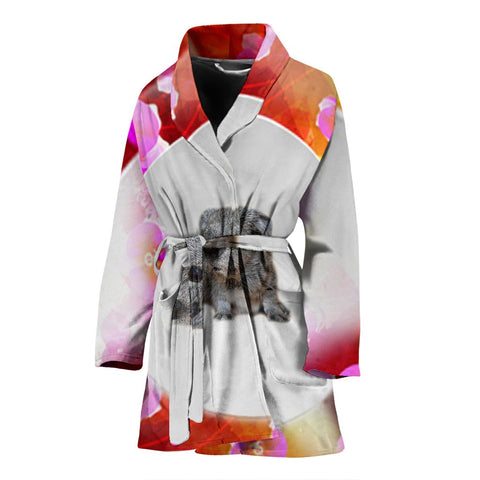 Cute Guinea Pig Print Women's Bath Robe
