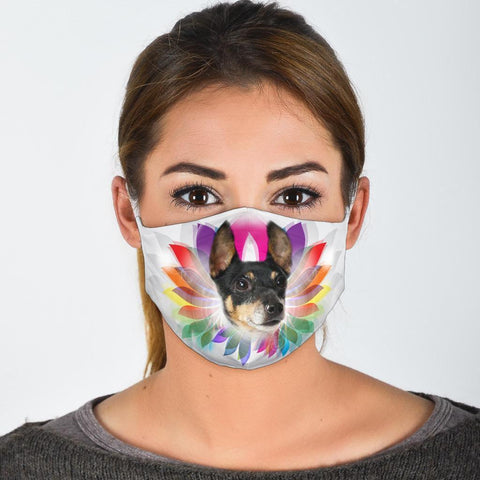 Cute Toy Fox Terrier Print Face Mask