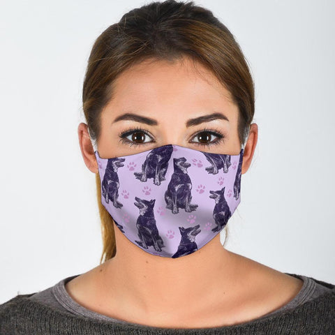 Cute Australian Cattle Dog Patterns Print Face Mask